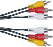 3 RCA TO 3 RCA 1.5M CABLE MALE-MALE