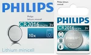 Philips Minicells Battery CR2016