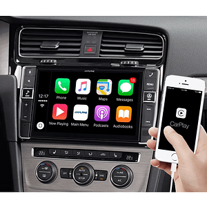 """Alpine I902D-G7 9"""" Mobile Media System for Volkswagen Golf 7, featuring Apple CarPlay and Android Auto compatibility"""