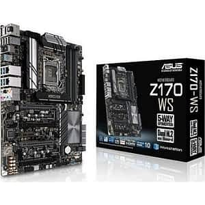 Asus Z170-WS WorkStation Intel Z170 Chipset LGA1151 Skylake ATX Desktop Motherboard