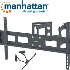"""Manhattan Universal LCD Full-Motion Corner Wall Mount - Holds 37"""" to 63"""" TVs weighing up to 60 kg"""