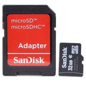 Sandisk 32GB Class 4 MicroSD Card - With SD Adapter