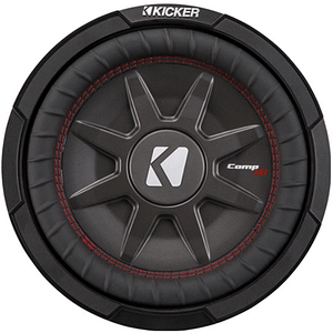 """Kicker 43CWRT102 CompRT shallow-mount 10"""" Subwoofer with dual 2-ohm voice coils"""