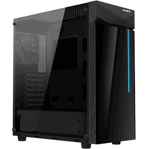Gigabyte C200 Tempered Glass Black Steel ATX Mid Tower Desktop Chassis