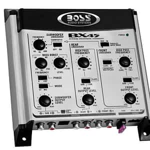 Boss Audio BX45 2/3-way Crossover w/ Remote Subwoofer Level Control