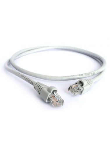 Acconet CAT6 UTP Flylead, 1 Meter, Straight, Stranded Cable, Moulded Boots and Plugs, Grey