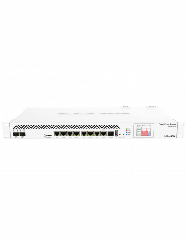 MikroTik CCR1036-8G-2S+ - 8 Port Cloud Core Router with 36 Core CPU and 2 SFP+ and redundant PSU