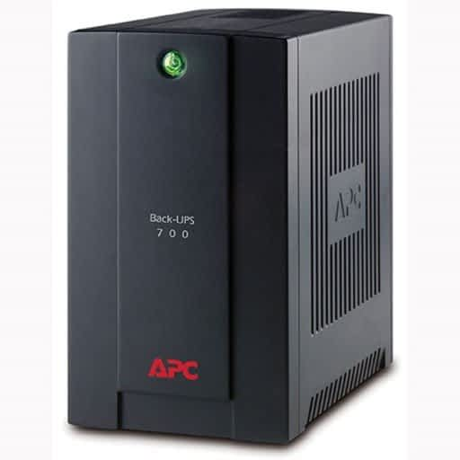 APC 700VA/390W USB Black Back-ups with AVR and Power Conditioning