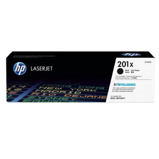 HP CF400X 201X Black High Yield Original LaserJet Toner Cartridge
