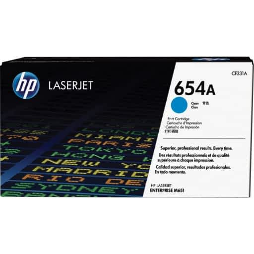 HP CF331A 654A Cyan Original LaserJet Toner Cartridge