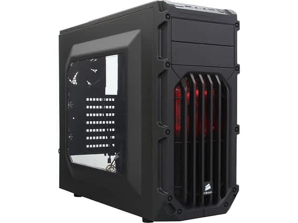 Corsair Carbide Series Spec-03 Windowed Side Panel with 2x Orange LED fan ATX Chassis