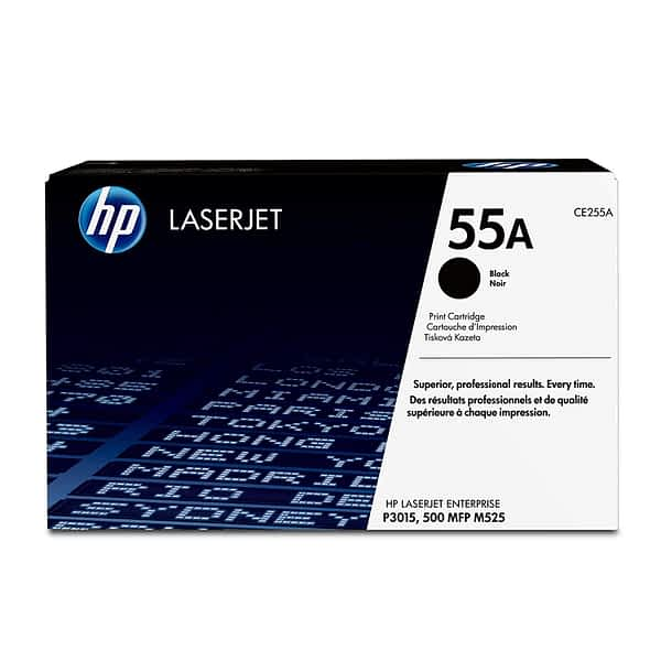 HP CE255A Black Toner, 6000pages - for HP LaserJet P3010 Series, P3015 Series